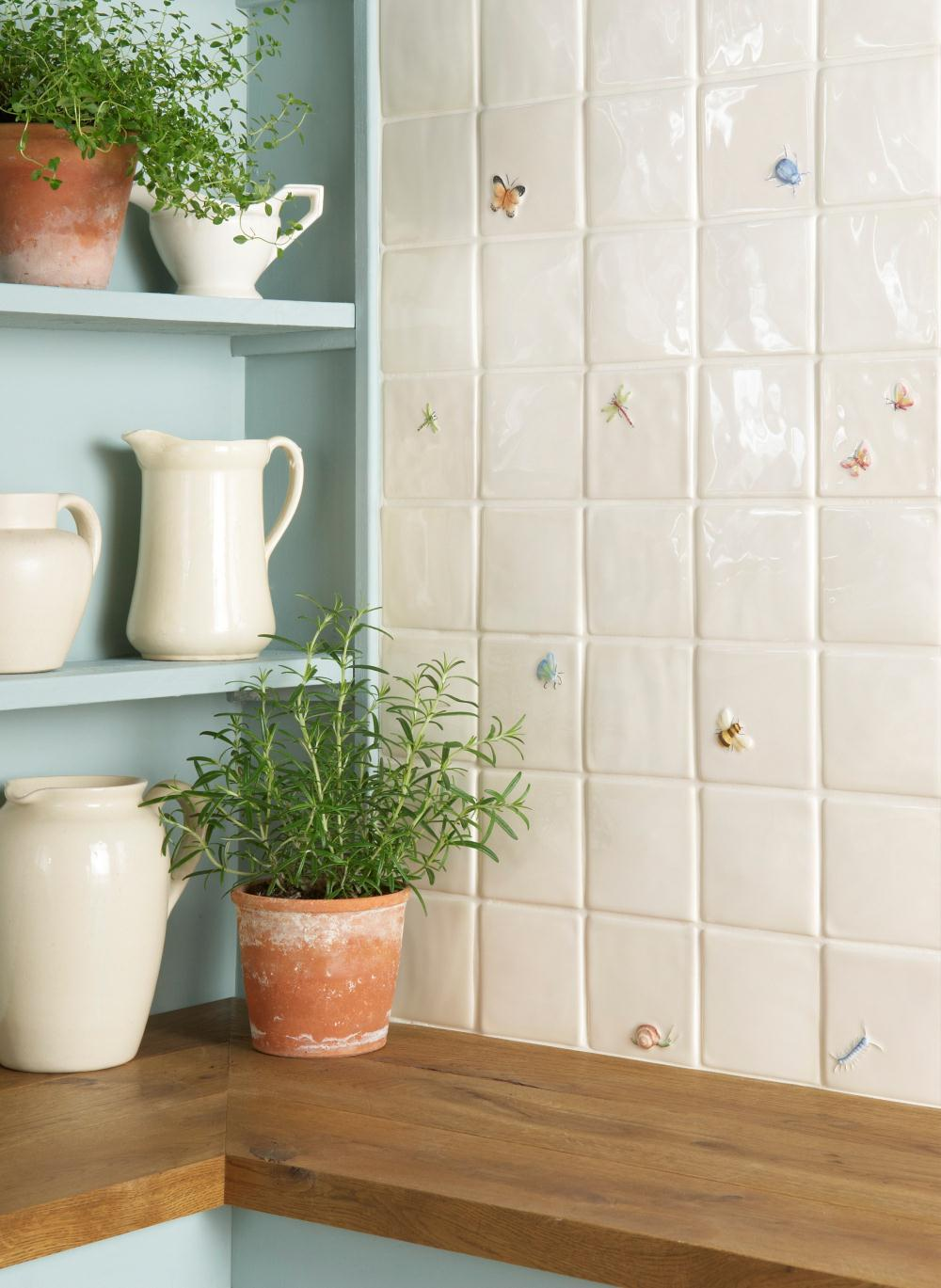 Butterfly on off white the winchester tile company butterfly butterfly dailygadgetfo Gallery