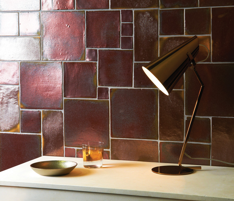 Rose Gold Foundry Metallic Tile The Winchester Tile Company