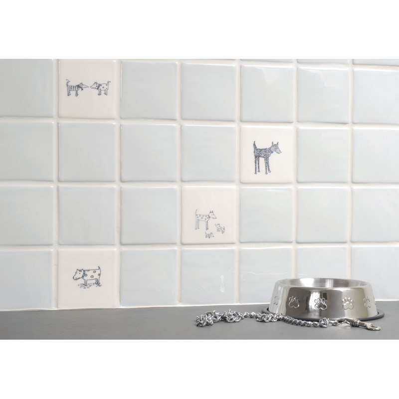 Spotty dog off white the winchester tile company for Perfect tiles for kitchen